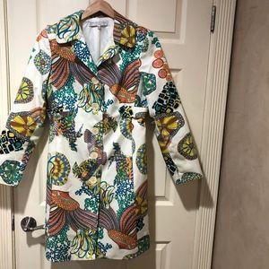 Trina Turk Spring Trench Coat Size 12